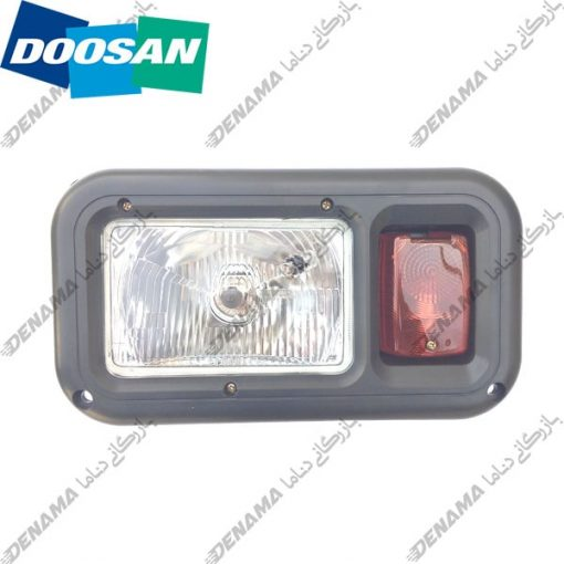 چراغ جلو بیل مکانیکی دوسان سولار چرخ لاستیکی Doosan Solar